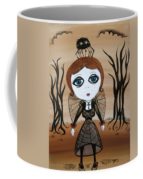 Gothic Coffee Mug featuring the painting Miz Goth by Sue Wright