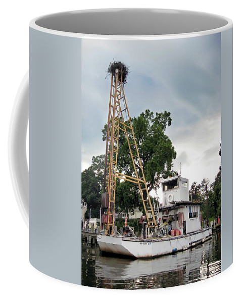 2d Coffee Mug featuring the photograph Mobile Osprey Nest by Brian Wallace