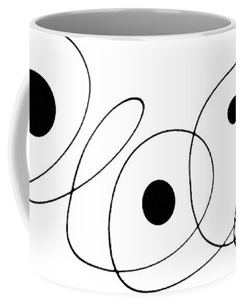Modern Coffee Mug featuring the painting Modern Art - To The Point - By Sharon Cummings by Sharon Cummings