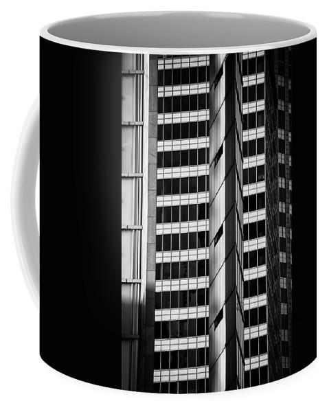 Abstract Coffee Mug featuring the photograph Modern Buildings Abstract Architecture by Artur Bogacki