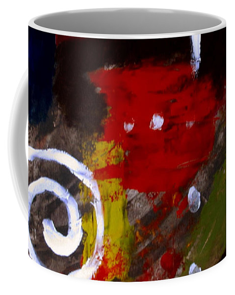 Modern Coffee Mug featuring the painting Modern Cave Art by Samantha Geernaert