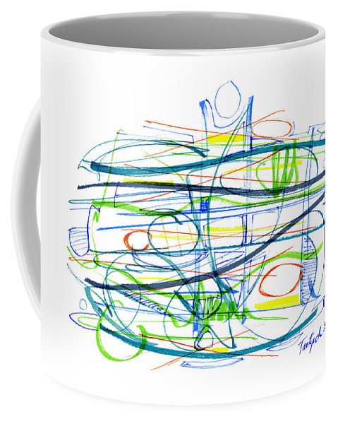 Modern Drawing Coffee Mug featuring the drawing Modern Drawing Eighty-seven by Lynne Taetzsch