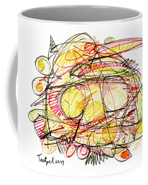 Modern Drawing Coffee Mug featuring the drawing Modern Drawing Seventy-eight by Lynne Taetzsch