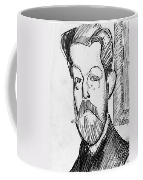 1909 Coffee Mug featuring the drawing Modigliani - Paul Alexander by Granger