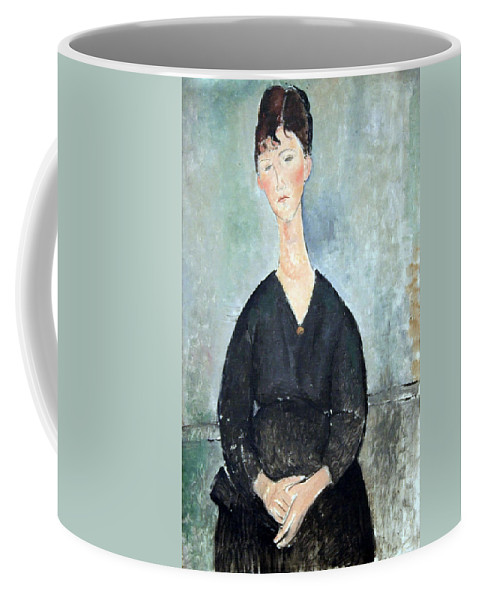 Cafe Singer Coffee Mug featuring the photograph Modigliani's Cafe Singer by Cora Wandel