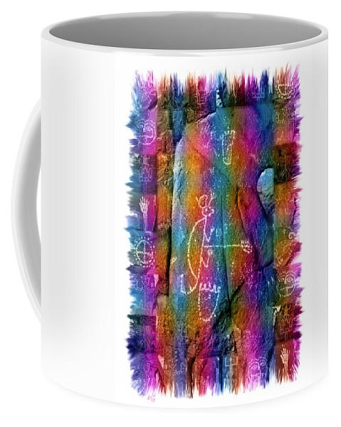 Petroglyph Coffee Mug featuring the photograph Mogollon Blanket Of Legends by Kurt Van Wagner