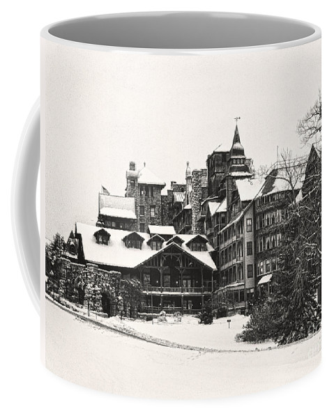 Winter Coffee Mug featuring the photograph Mohonk Mountain House by Claudia Kuhn
