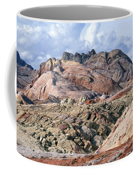 Valley Of Fire Coffee Mug featuring the photograph Mojave Desert View - Valley Of Fire by Debby Richards