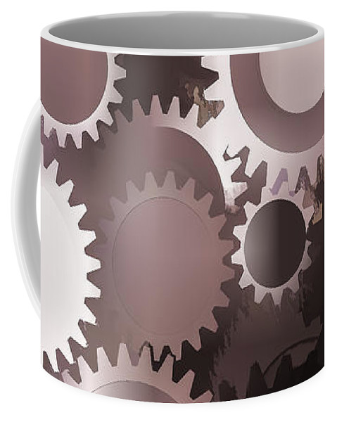 Gears Coffee Mug featuring the photograph Mojo Synchronicity by Bob Orsillo