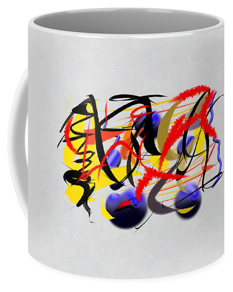 Digital Art Coffee Mug featuring the drawing Moment Captured In Time by Paulo Guimaraes