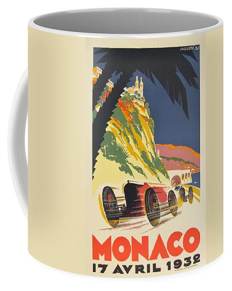 Monaco Grand Prix Coffee Mug featuring the digital art Monaco Grand Prix 1932 by Georgia Fowler