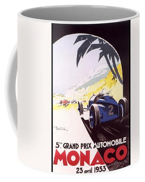F1 Coffee Mug featuring the digital art Monaco Grand Prix 1933 by Georgia Fowler