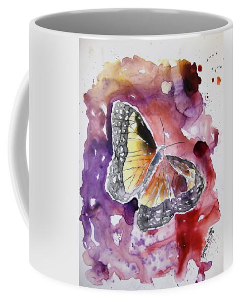 Monarch Coffee Mug featuring the painting Monarch Butterfly by Derek Mccrea