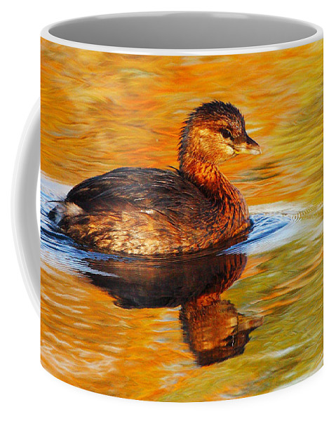 Pied-billed Grebe Coffee Mug featuring the photograph Monet Grebe by Andrew McInnes