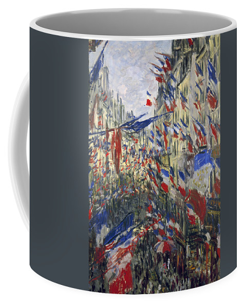 1878 Coffee Mug featuring the photograph Monet: Montorgeuil, 1878 by Granger