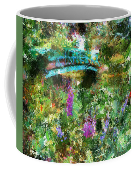 Landscapes Coffee Mug featuring the painting Monet's Bridge In Spring by Dragica Micki Fortuna