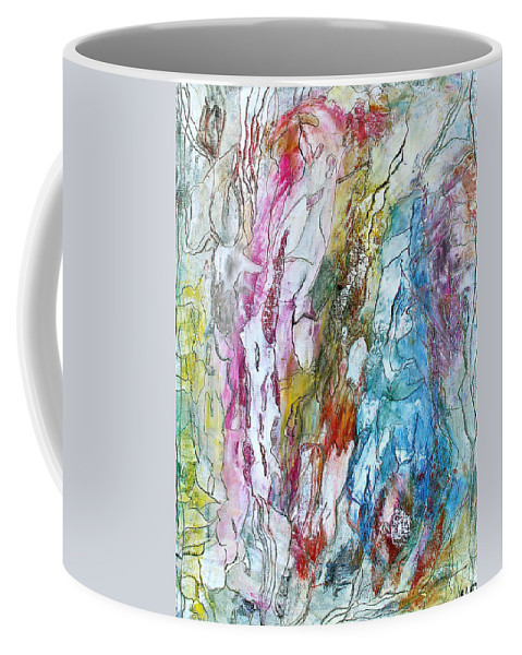 Mixed Media Coffee Mug featuring the painting Monet's Garden by Bellesouth Studio