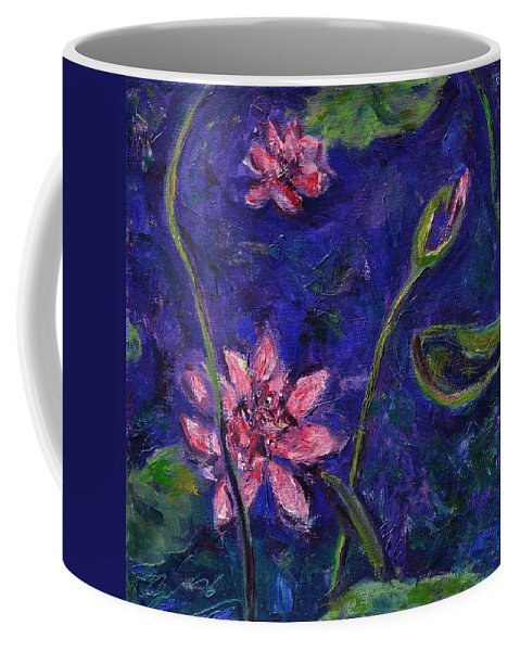 Water Lilies Coffee Mug featuring the painting Monet's Lily Pond I by Xueling Zou