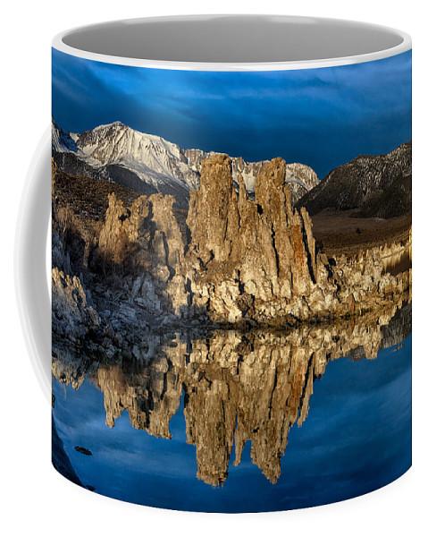 Mono Lake Coffee Mug featuring the photograph Mono Lake In March by Kathleen Bishop