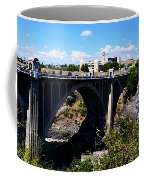 Spokane River Coffee Mug featuring the photograph Monroe Street Bridge - Spokane by Michelle Calkins
