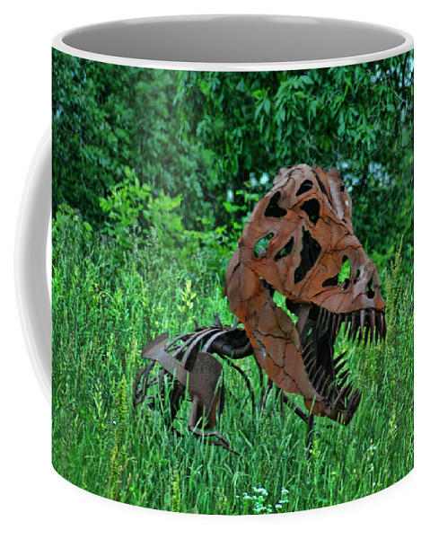 Door County Coffee Mug featuring the photograph Monster In The Grass by Tommy Anderson