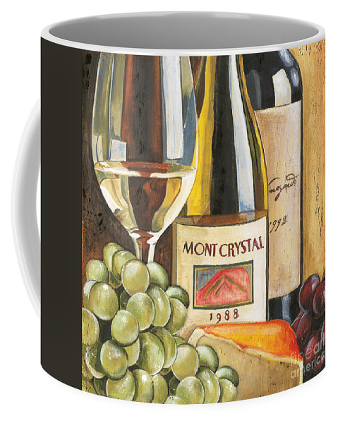 Green Grapes Coffee Mug featuring the painting Mont Crystal 1988 by Debbie DeWitt