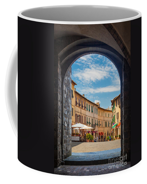 Europe Coffee Mug featuring the photograph Montalcino Loggia by Inge Johnsson