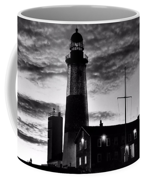Black Coffee Mug featuring the photograph Montauk Point by DJ Florek