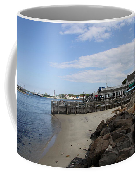 Montauk Port Coffee Mug featuring the photograph Montauk Port Long Island by Christiane Schulze Art And Photography