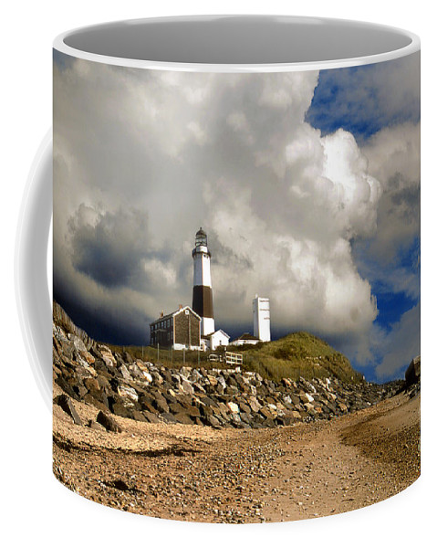 Lighthouses Coffee Mug featuring the photograph Montauk by Skip Willits