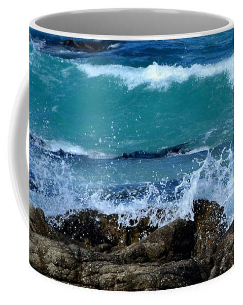 Wave Coffee Mug featuring the photograph Monterey-3 by Dean Ferreira