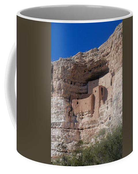 Landscape Coffee Mug featuring the photograph Montezuma Castle Arizona by Rauno Joks
