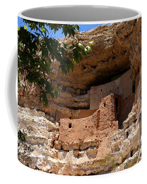 Montezuma Castle Coffee Mug featuring the photograph Montezuma Castle View by Christiane Schulze Art And Photography