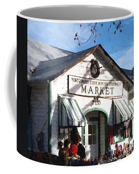 Americana Coffee Mug featuring the painting Montgomery County Market by RC deWinter