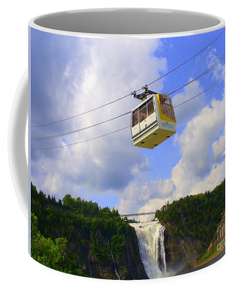 Nature Coffee Mug featuring the photograph Montmorency Falls And Gondola by Lingfai Leung