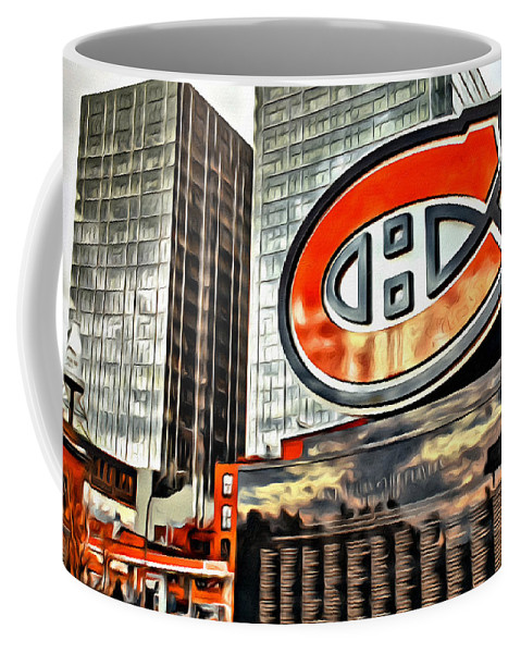 Montreal Canadiens Statue C Scenic Coffee Mug featuring the photograph Montreal C by Alice Gipson