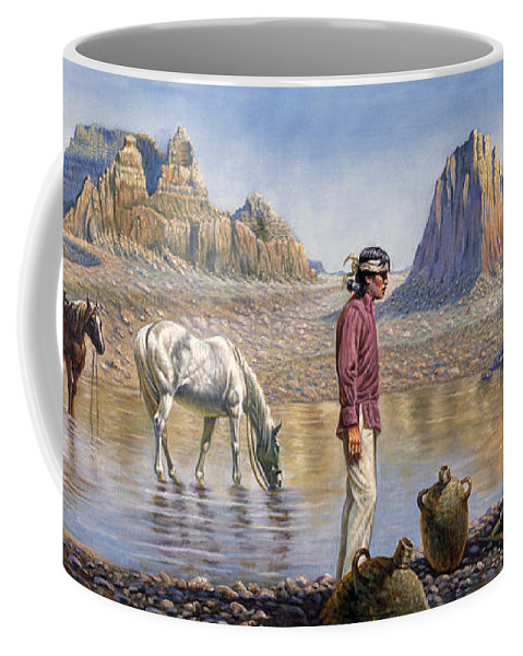 Gregory Perillo Coffee Mug featuring the painting Monument Valley by Gregory Perillo
