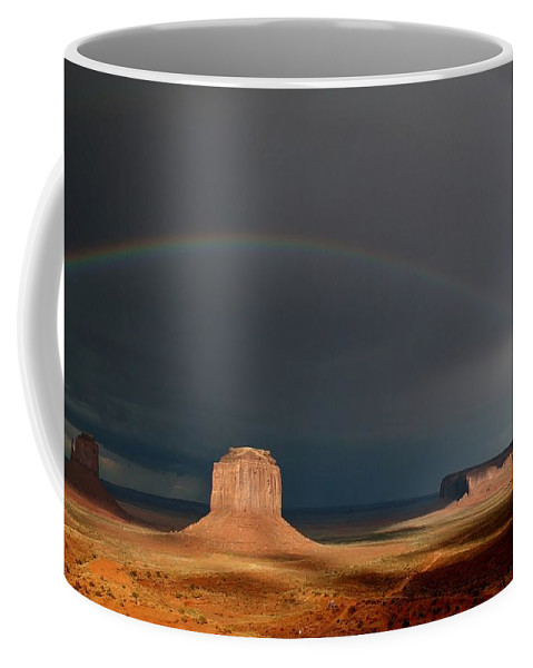 Monument Valley Coffee Mug featuring the photograph Monument Valley Rainbows 3 by Mo Barton