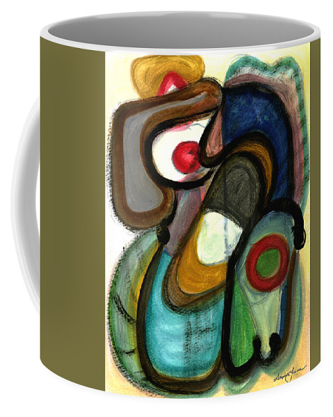 Abstract Art Coffee Mug featuring the painting Moody Blues by Stephen Lucas
