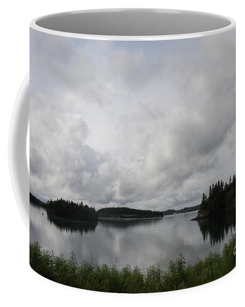Sky Coffee Mug featuring the photograph Moody Sky Over Campobello Bay by Christiane Schulze Art And Photography
