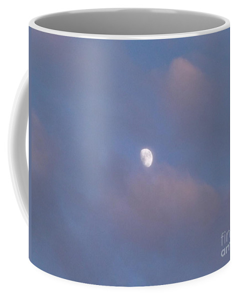 Moon Coffee Mug featuring the photograph Moon At Sunset by Jussta Jussta