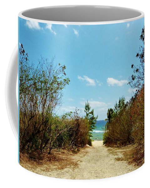 Color Coffee Mug featuring the photograph Moon Bay Walk by Amar Sheow