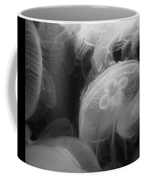 Moon Jellyfish Coffee Mug featuring the photograph Moon Jellyfish by Ellen Henneke
