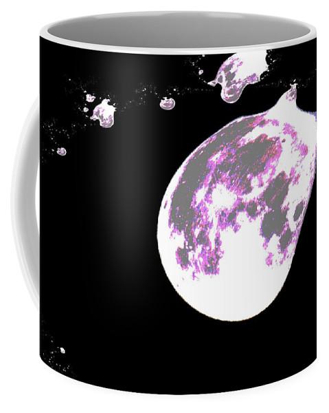 Moon Coffee Mug featuring the photograph Moon Melt by Jeff Swan