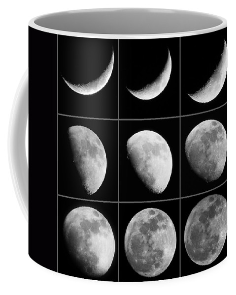 Moon Coffee Mug featuring the photograph Moon Progression by Jackson Pearson