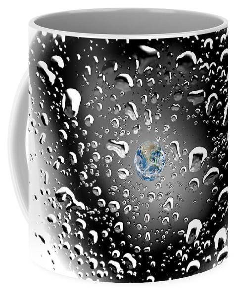 Surreal Photography Coffee Mug featuring the photograph Moon Rain by Norman Gabitzsch