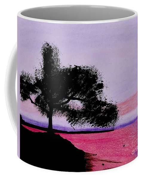 Moon Coffee Mug featuring the drawing Moon Rise by D Hackett