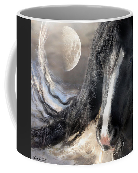 Horse Art Prints Coffee Mug featuring the photograph Moonlight And Valentino by Fran J Scott