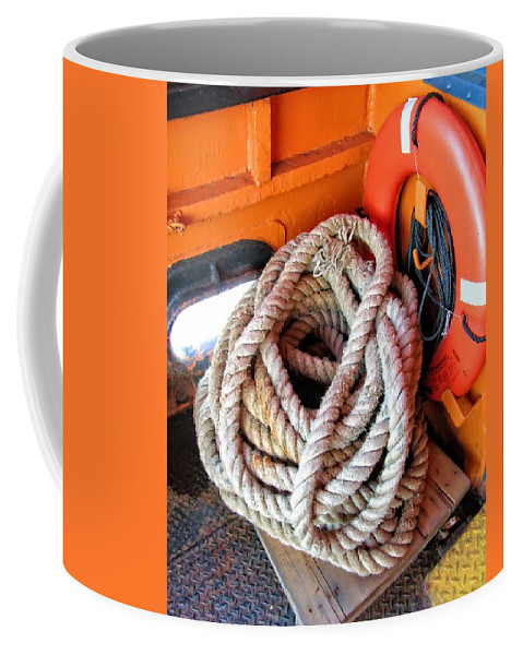 Line Coffee Mug featuring the photograph Mooring Line by Robert McCulloch
