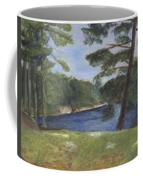 Moose River Coffee Mug featuring the painting Moose River by Sheila Mashaw